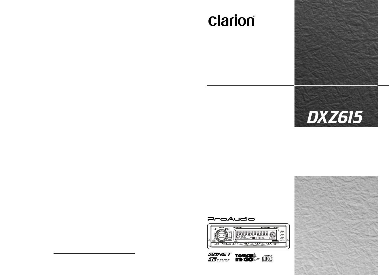 clarion dxz615 user manual 30 pages rh manualsdir com