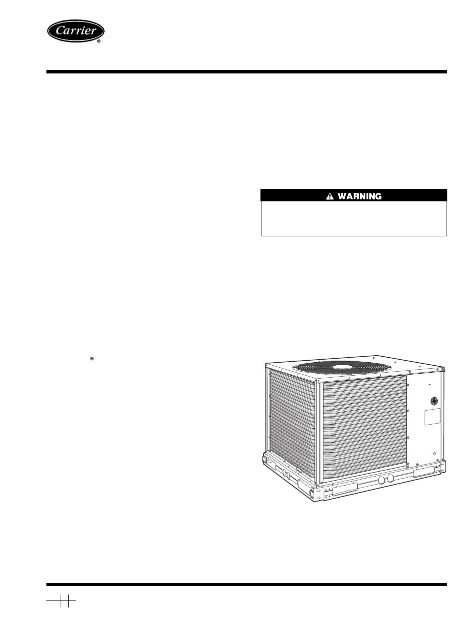 Carrier 38ak012 User Manual