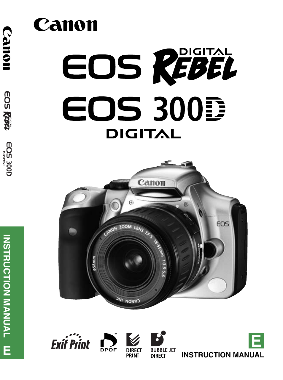 canon ds6041 user manual 140 pages also for eos 300d eos rebel