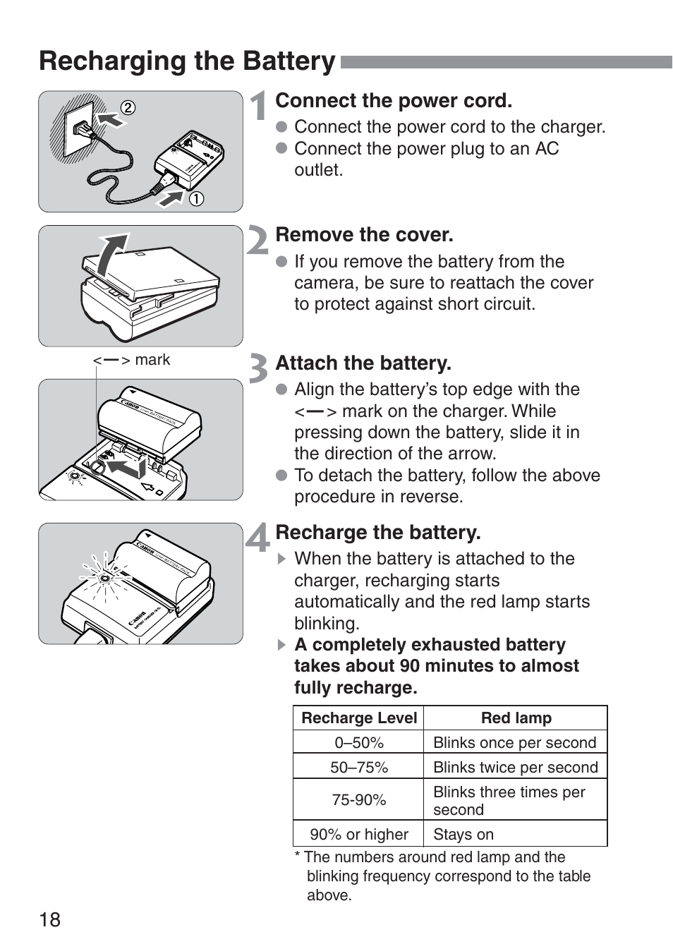 recharging the battery canon ds6041 user manual page 18 140 rh manualsdir com Canon Digital Rebel DS6041 Canon EOS Rebel XS