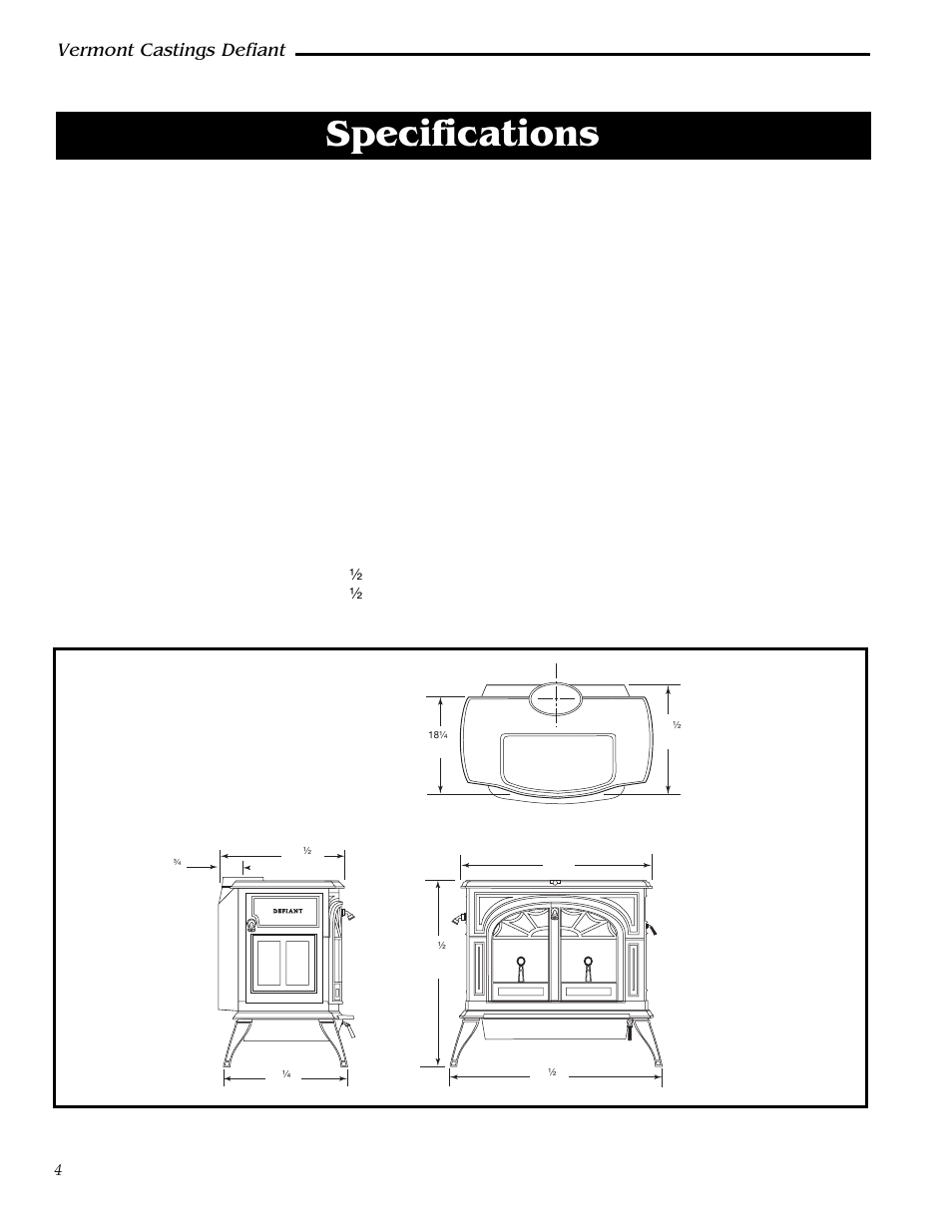 specifications defiant model 1910 vermont castings defiant rh manualsdir com vermont castings defiant encore wood stove manual vermont castings defiant 1610 manual
