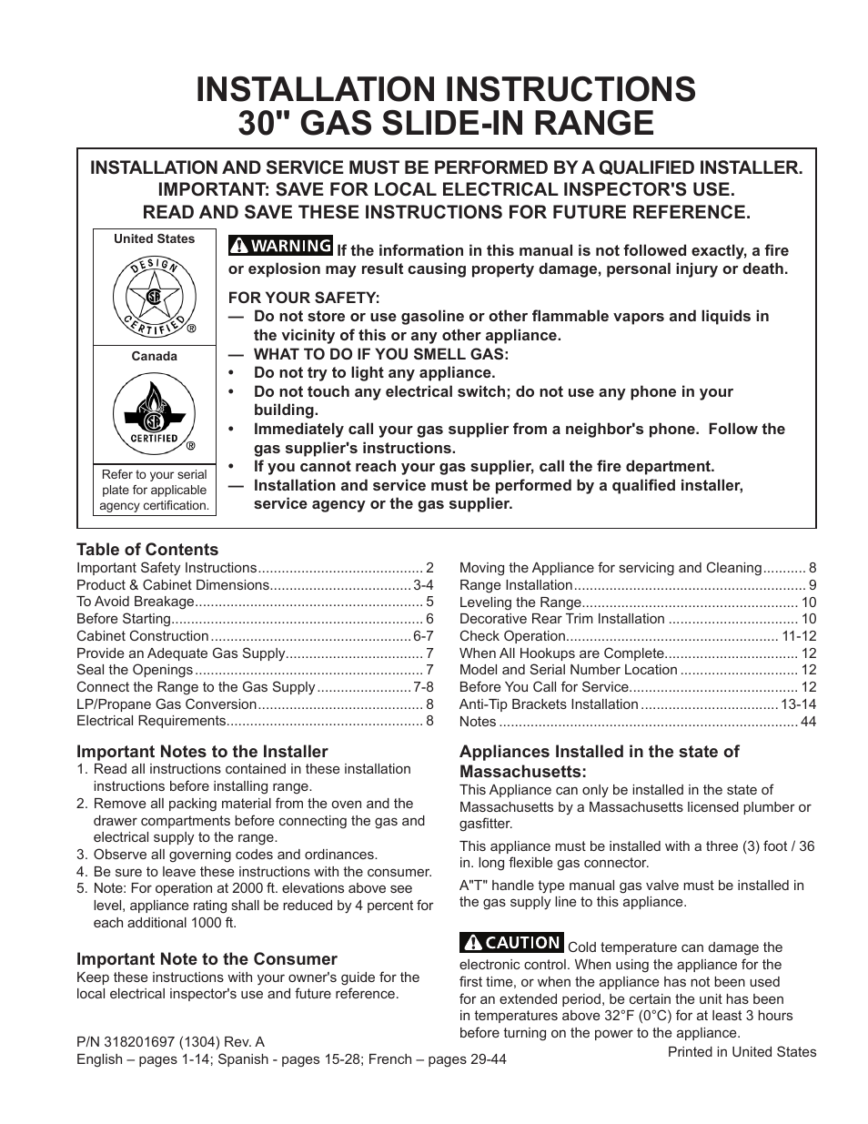 Frigidaire Fggs3065pf User Manual 44 Pages Also For Fpgs3085pf Propane Electric Refrigerator Wiring Schematic Fggs3065pb Fggs3065pw Ffgs3025pb Ffgs3025pw Ffgs3025ps