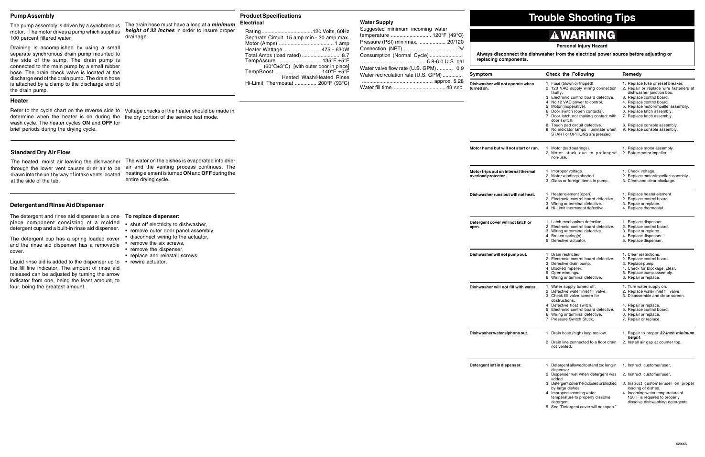 frigidaire fghd2455lb user manual