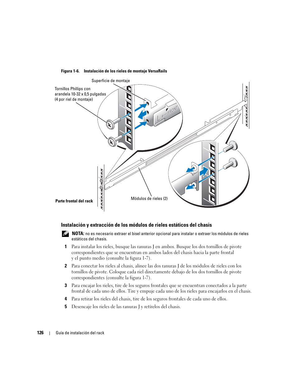 figura 1 6 instalaci n de los rieles de montaje versarails dell rh manualsdir com Dell PowerEdge 860 BTU dell poweredge 860 service manual