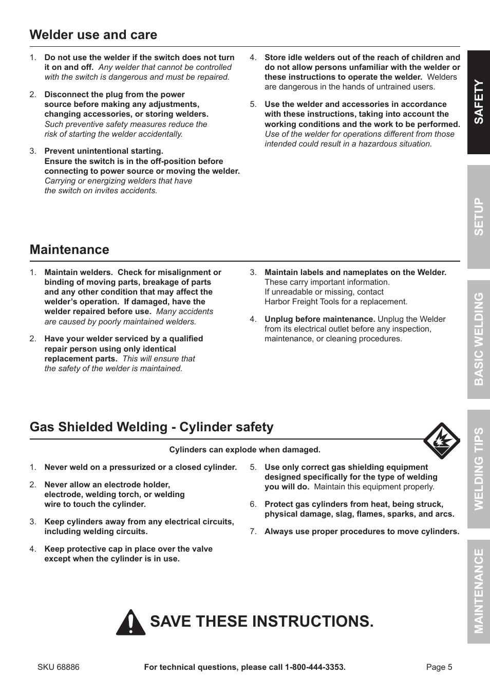 Wire Feed Welder Instructions - Wiring
