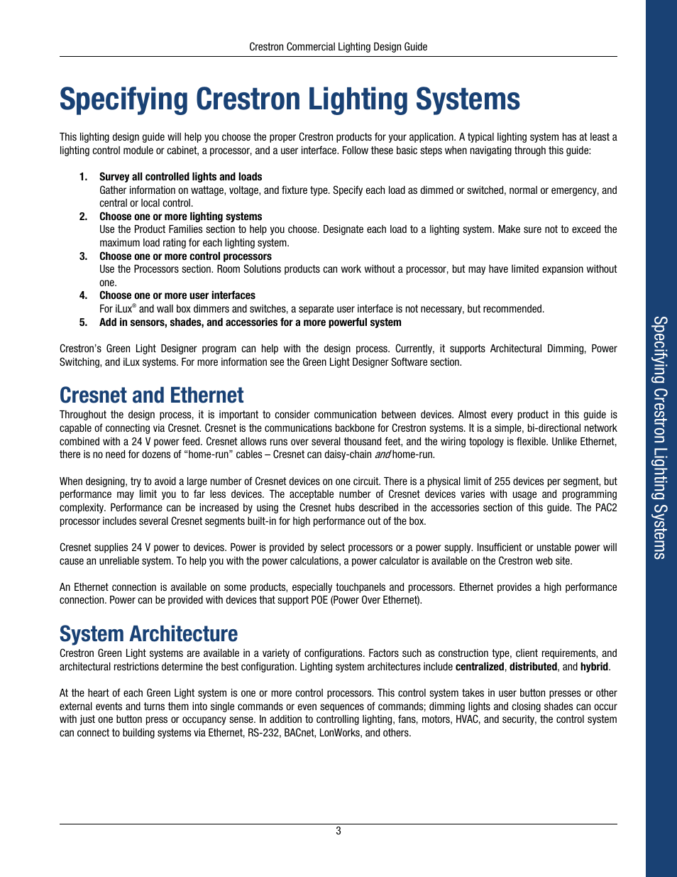 Crestron Lighting Control Modules Home Cls C6 Wiring Diagram Cresnet And Ethernet System Architecture Specifying