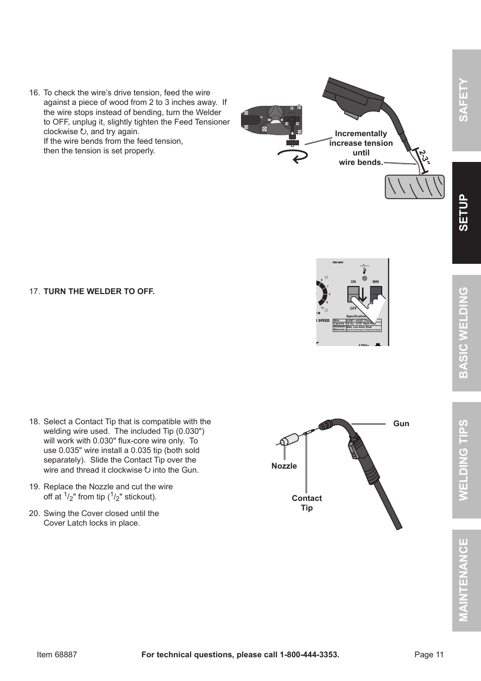 Chicago Electric 90 AMP FLUX WIRE WELDER 68887 User Manual | Page 11 ...