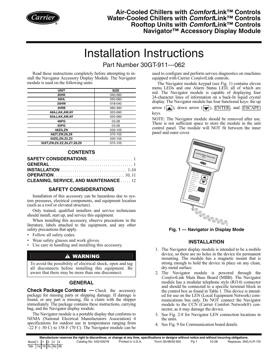 ... chiller manual pdf carrier 30gt-060 manual. Image not found or type  unknown