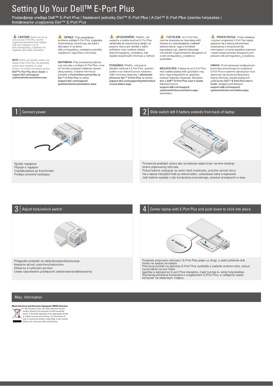 Dell E-Port Plus User Manual | 2 pages