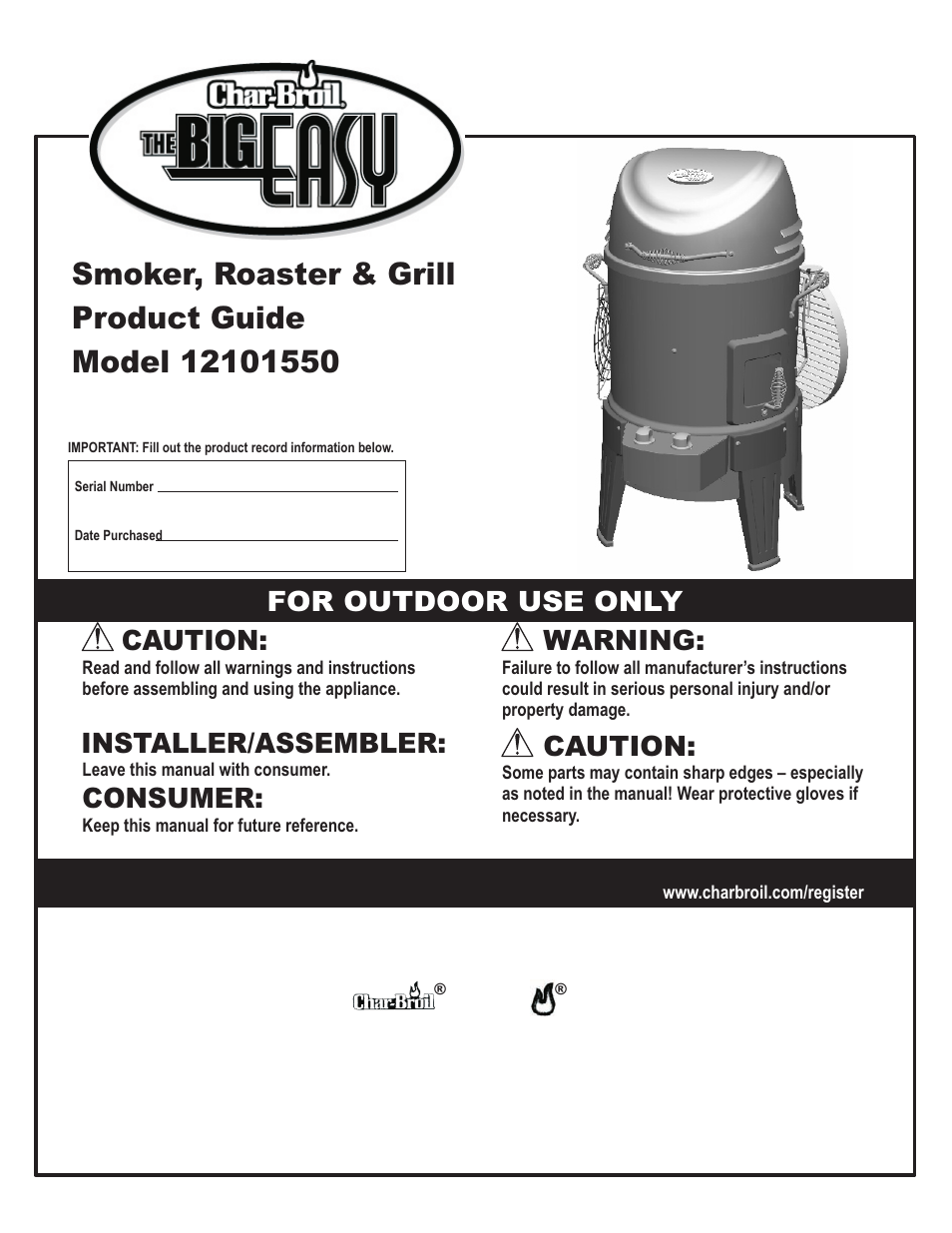 char broil the big easy 12101550 user manual 24 pages rh manualsdir com char broil smoker canada char broil smoker canada