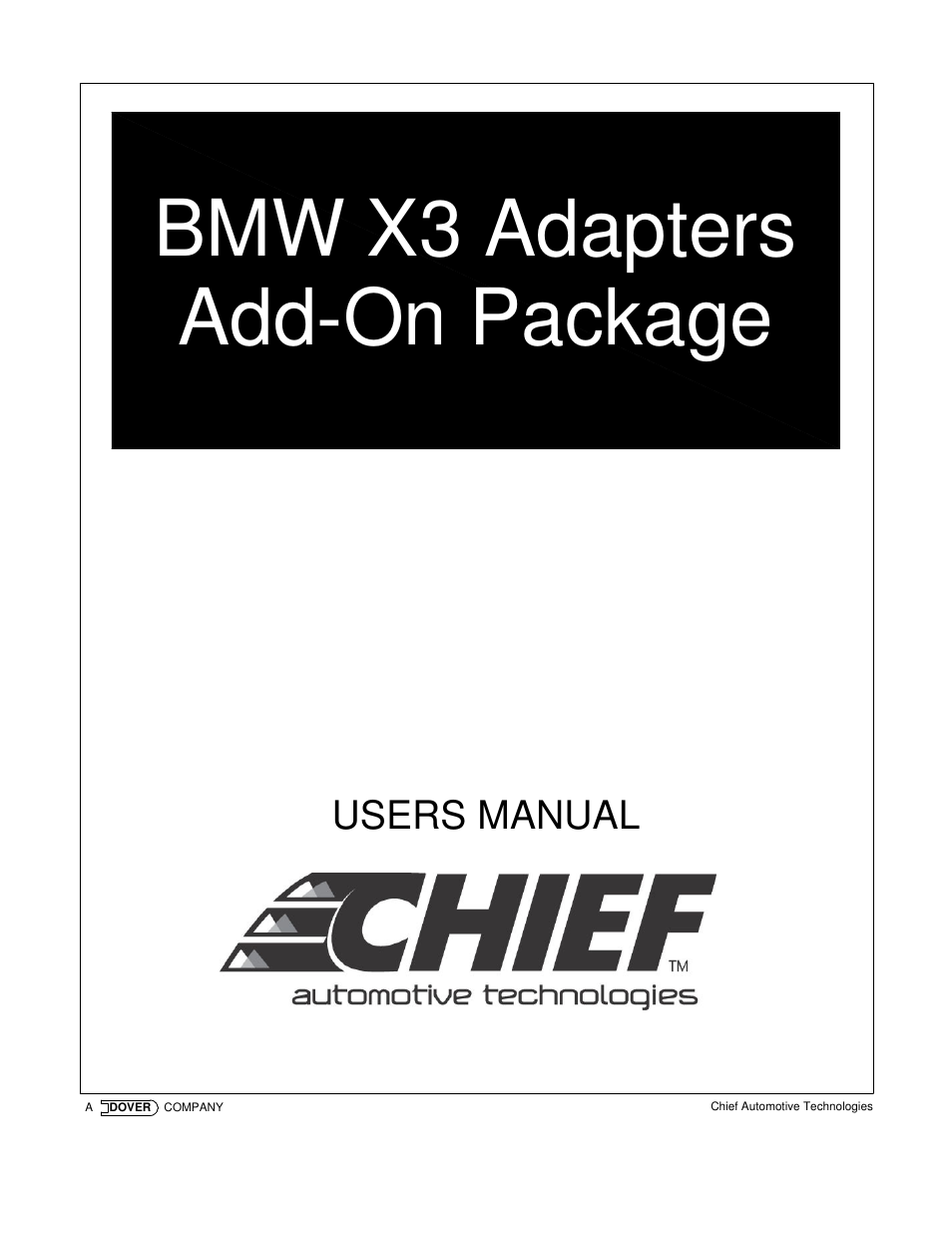 chief manufacturing x3 user manual 8 pages rh manualsdir com Old Manufacturing Manual Old Manufacturing Manual