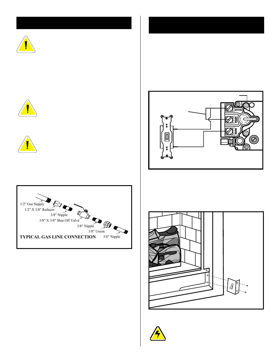 Remote Switch Installation For Rn Rp Gas Line Fireplace Valve Wiring Vermont Casting Dbr36 User Manual Page 7 32