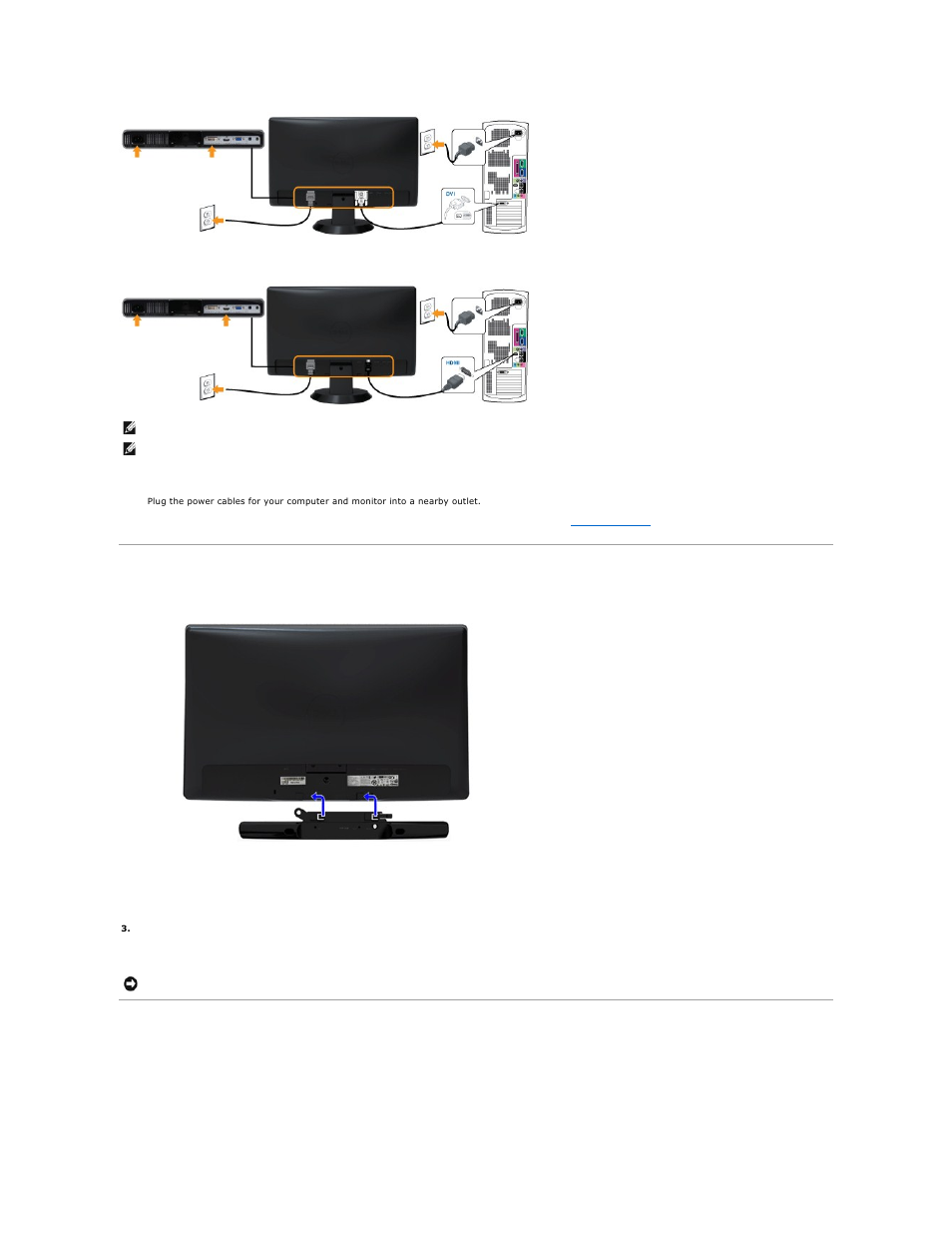 Attaching The Soundbar Optional Removing Base Connecting Wiring A 1 4 Out Put Jack Hdmi Cable Dell St2210b Monitor User Manual Page 28 33