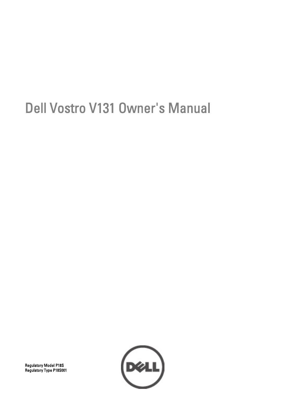 dell vostro v131 mid 2011 user manual 90 pages rh manualsdir com dell vostro v131 service manual pdf dell v131 manual