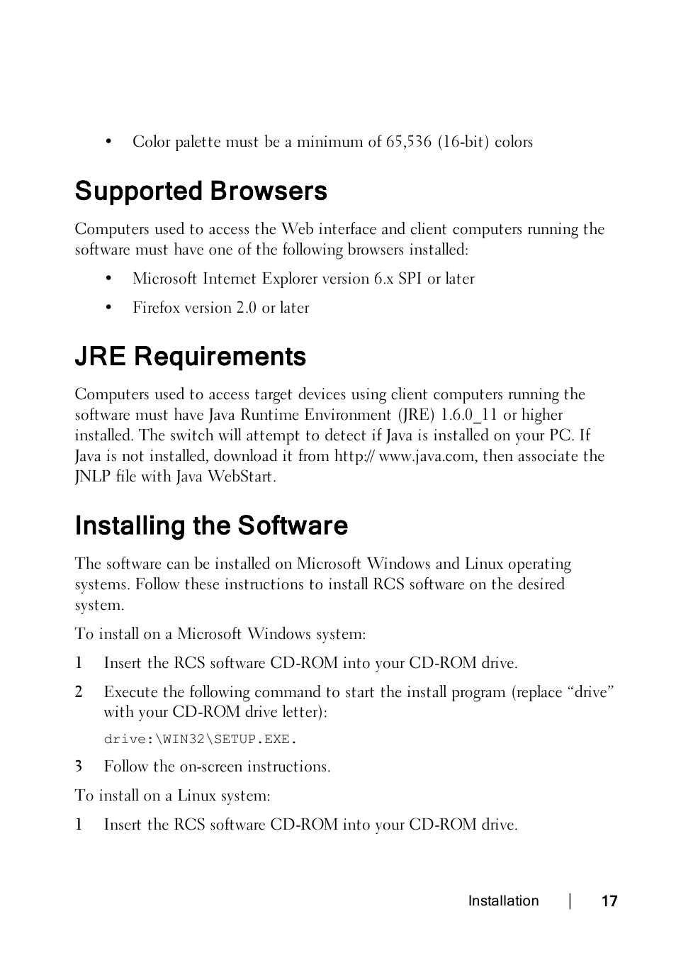 Java 6 System Requirements