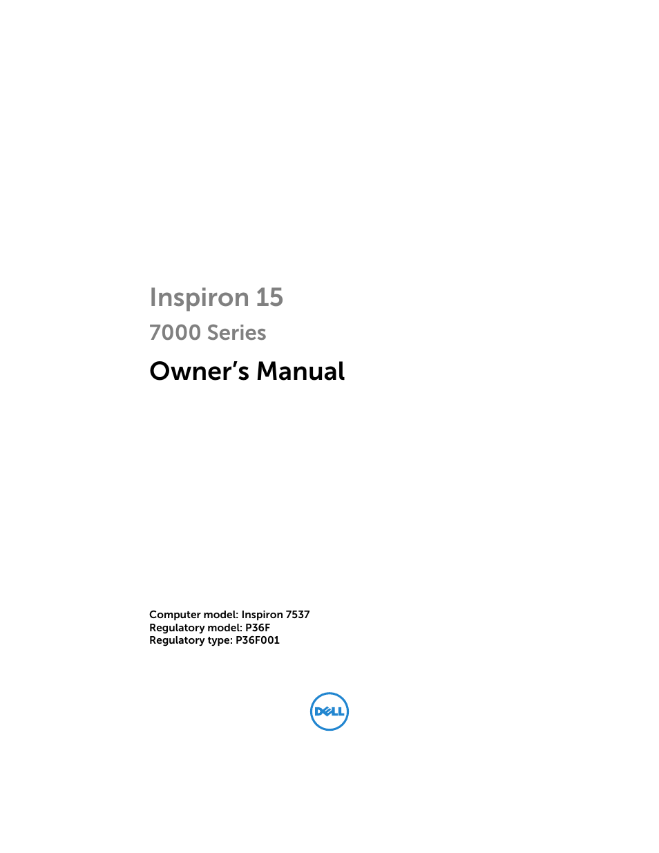Dell Inspiron 15 (7537, Mid 2013) User Manual | 71 pages