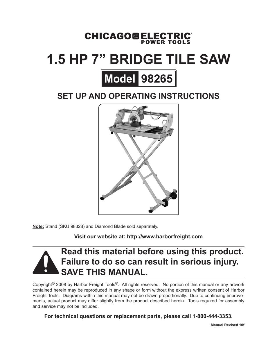 Chicago Electric Tile Saw Parts Tile Design Ideas