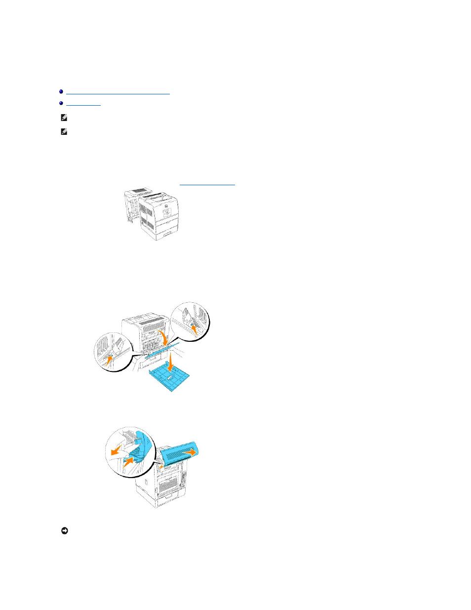 installing the optional duplex module dell 3100cn color laser rh manualsdir com Dell Color Laser Printer 3100Cn dell 3100cn user guide