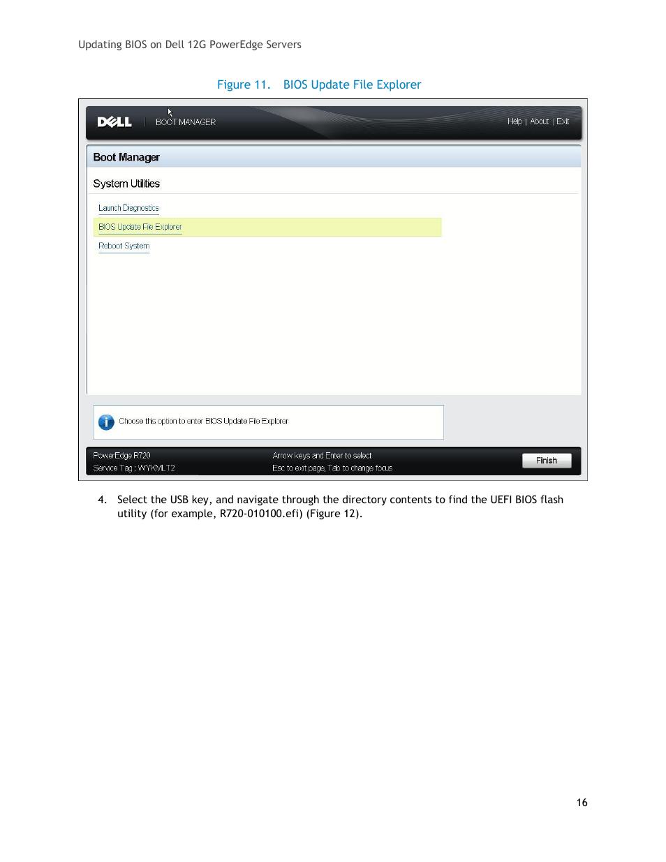 Figure 11, Bios update file explorer | Dell POWEREDGE R620 User