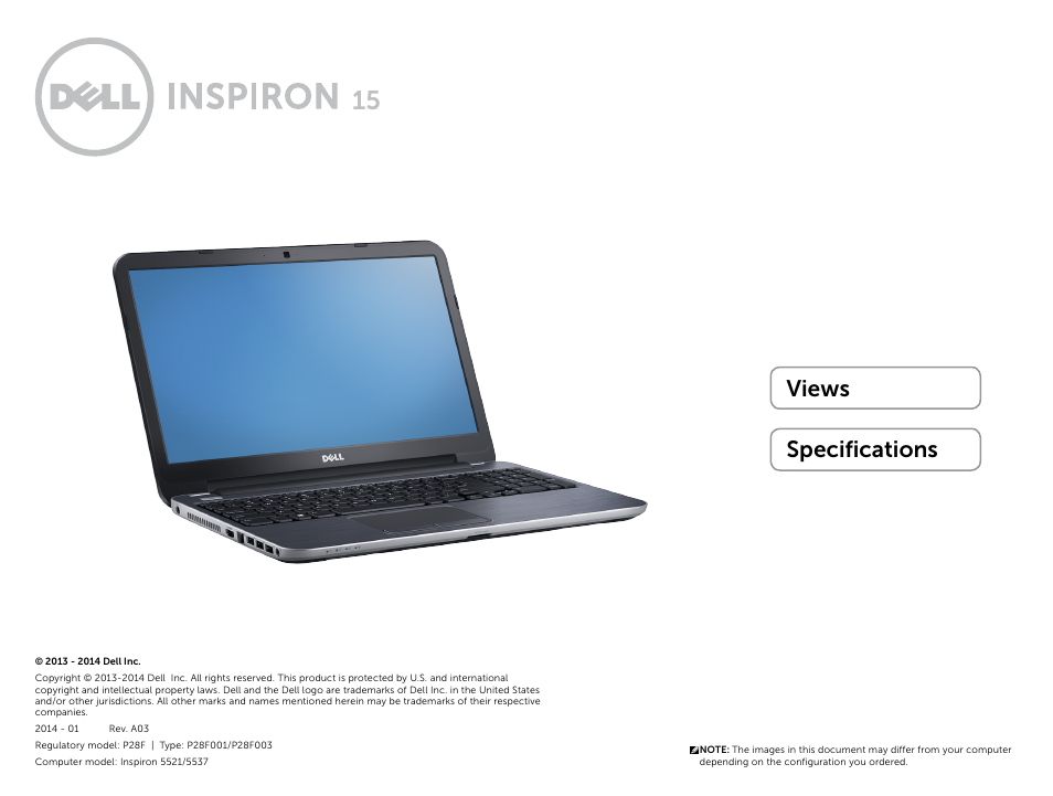 Dell Inspiron 15R (5537, Mid 2013) User Manual | 22 pages