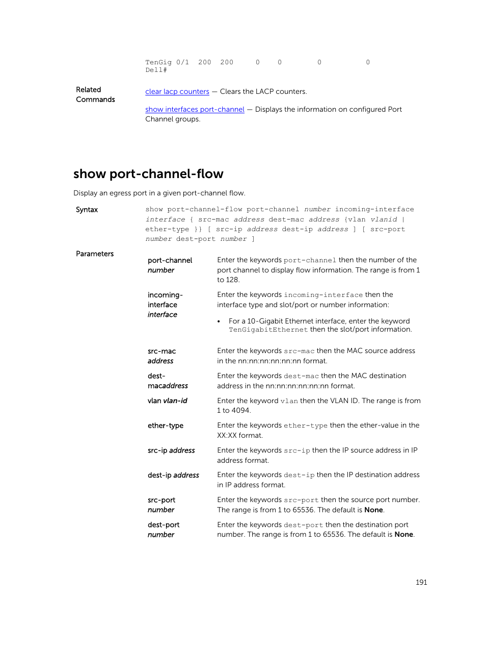 Show port-channel-flow | Dell PowerEdge FX2/FX2s User Manual | Page