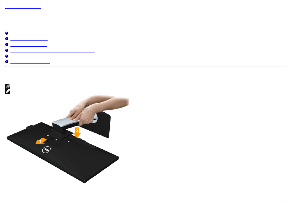 Setting up the monitor, Attaching the stand | Dell U2913WM Monitor