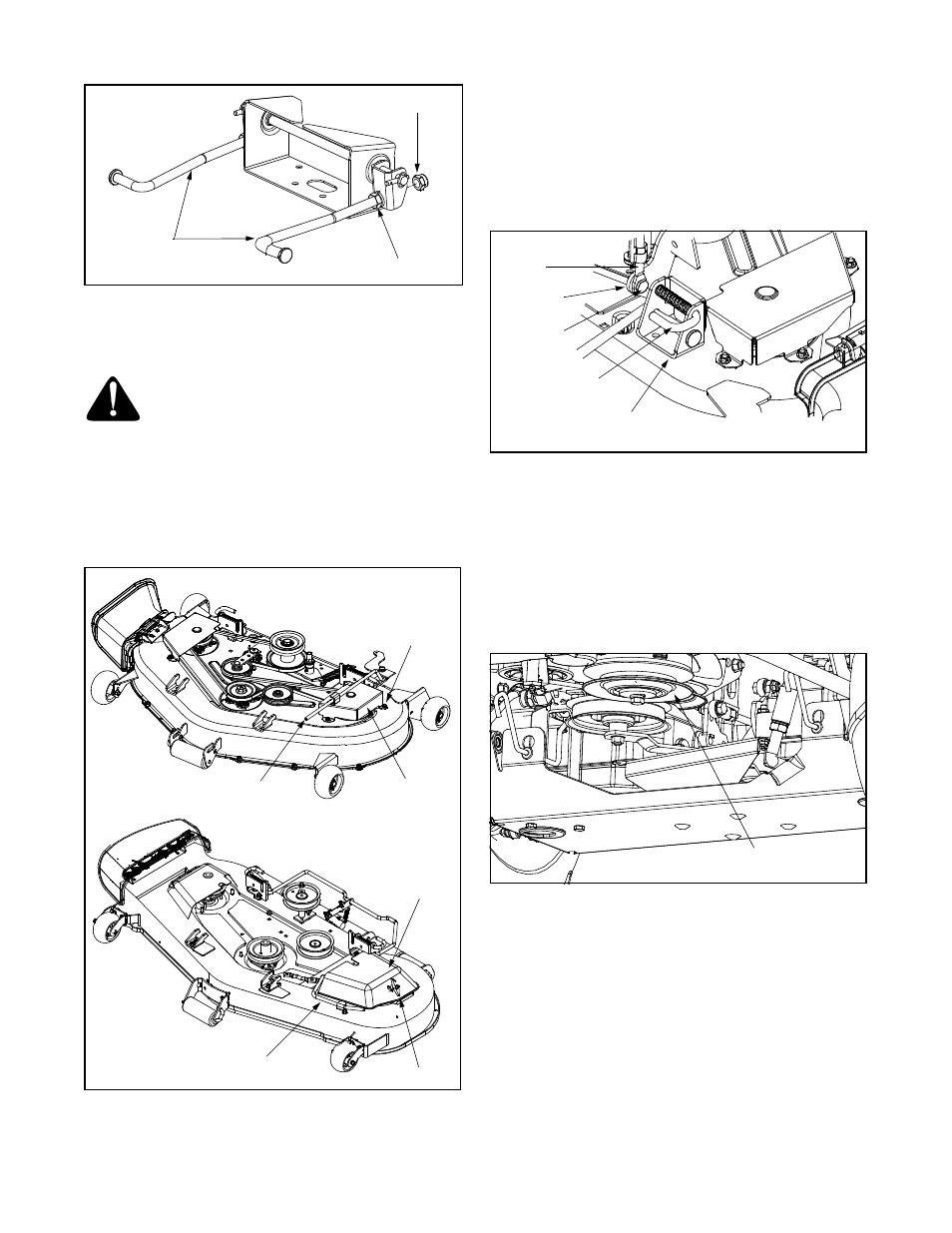Removing the mower deck | Cub Cadet 365 User Manual | Page