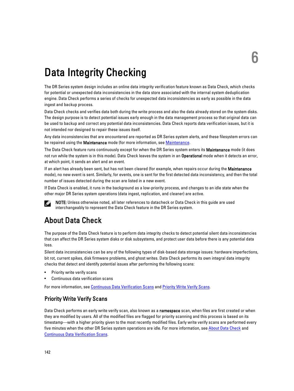 data integrity checking about data check priority write verify rh manualsdir com Online User Guide User Guide Template