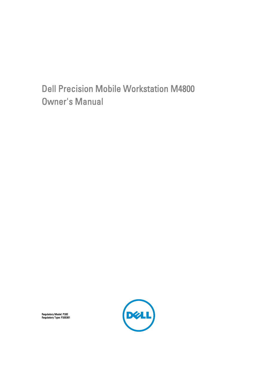 Dell Precision M4800 (Late 2013) User Manual | 83 pages