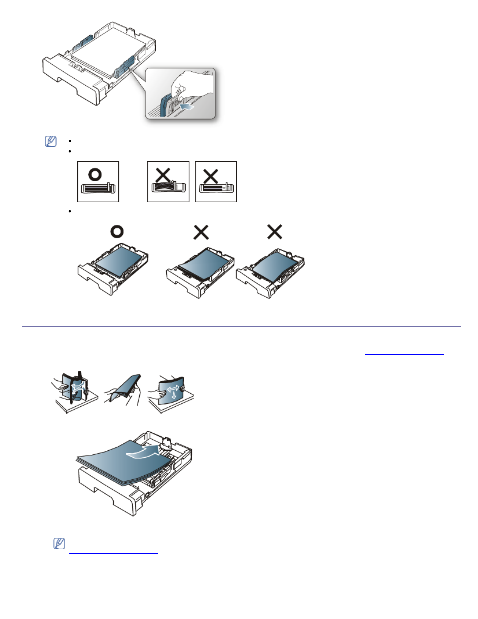 Loading paper in the tray, Tray 1, Manual tray   Dell 1130 Laser Mono Printer  User Manual   Page 39 / 103