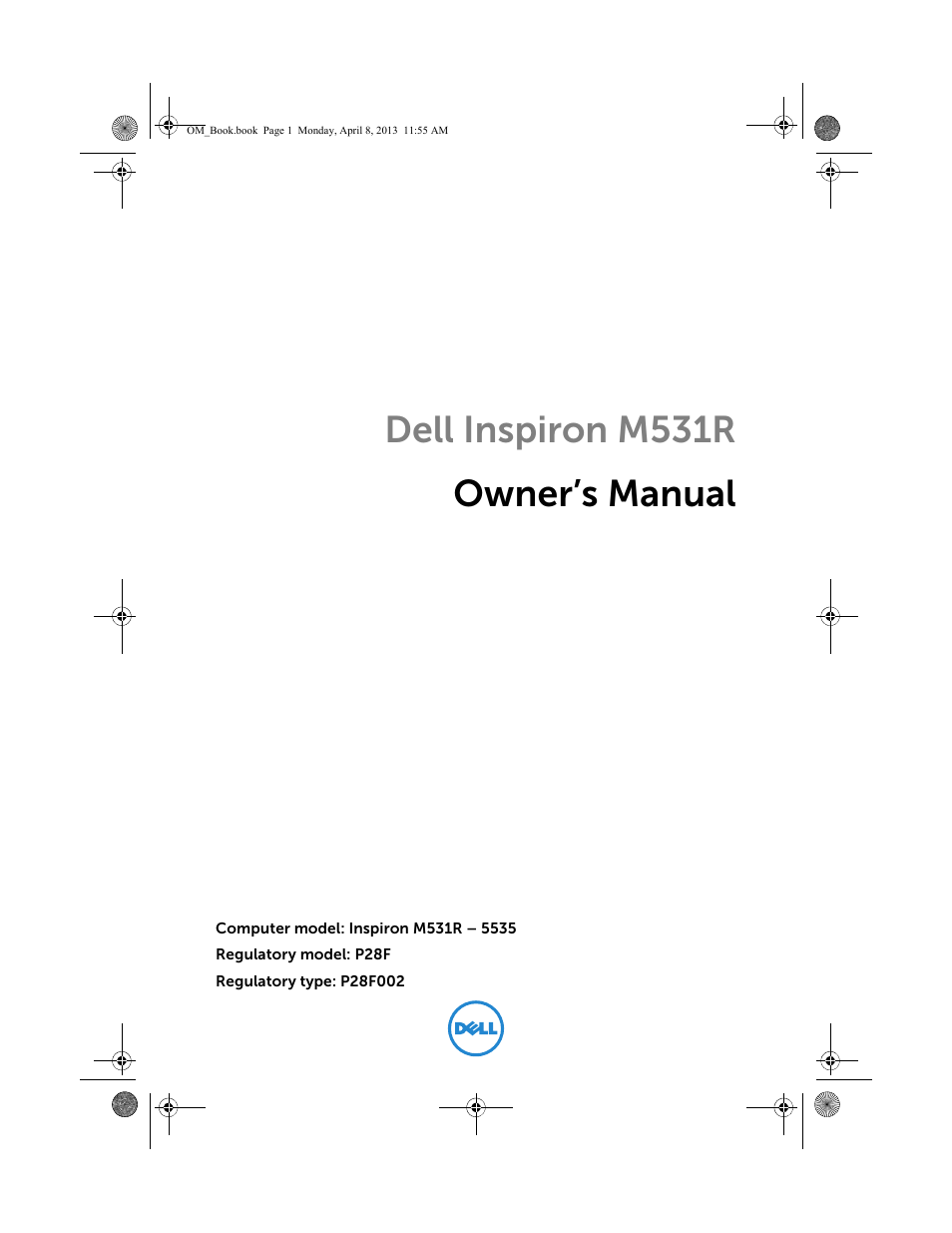 dell inspiron 531 manual