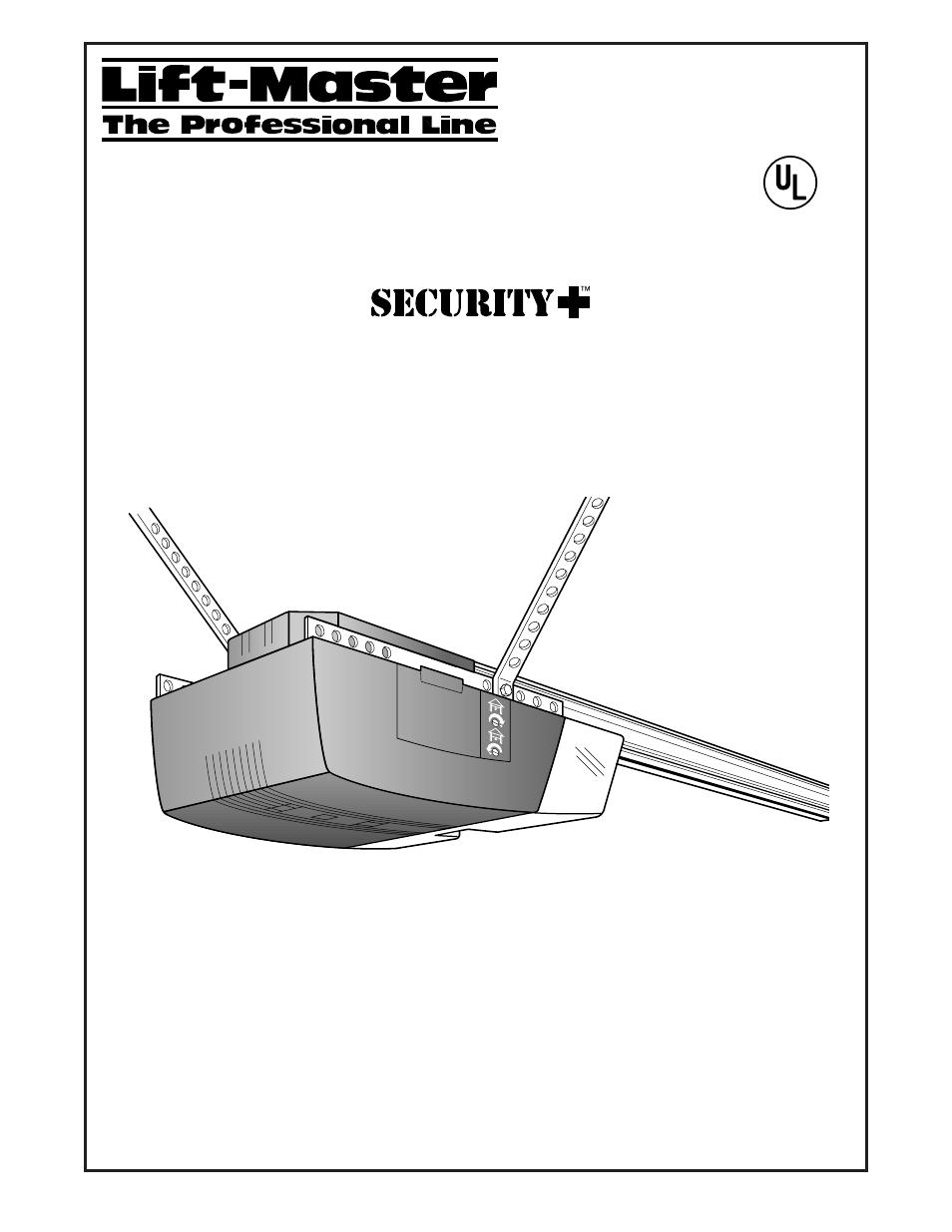 Chamberlain 2000sdr 1 2 Hp User Manual Manual Guide
