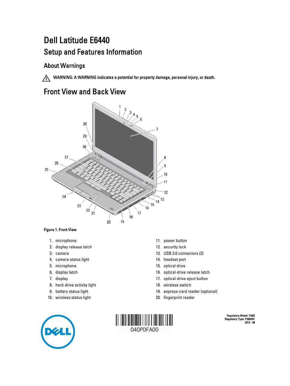 Dell Latitude E6440 (Late 2013) User Manual | 6 pages