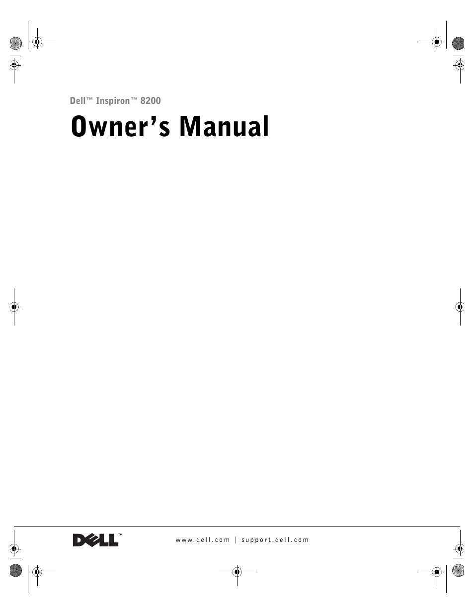 dell inspiron 8200 user manual 162 pages rh manualsdir com Dell Inspiron 8200 Drivers Dell Inspiron 8000