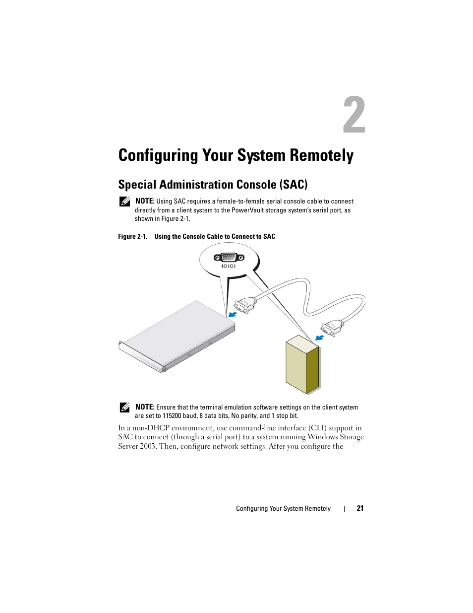 Configuring Your System Remotely Special Administration Console Rollover Cable Diagram Sac Dell Powervault Dp600 User Manual Page 21 52