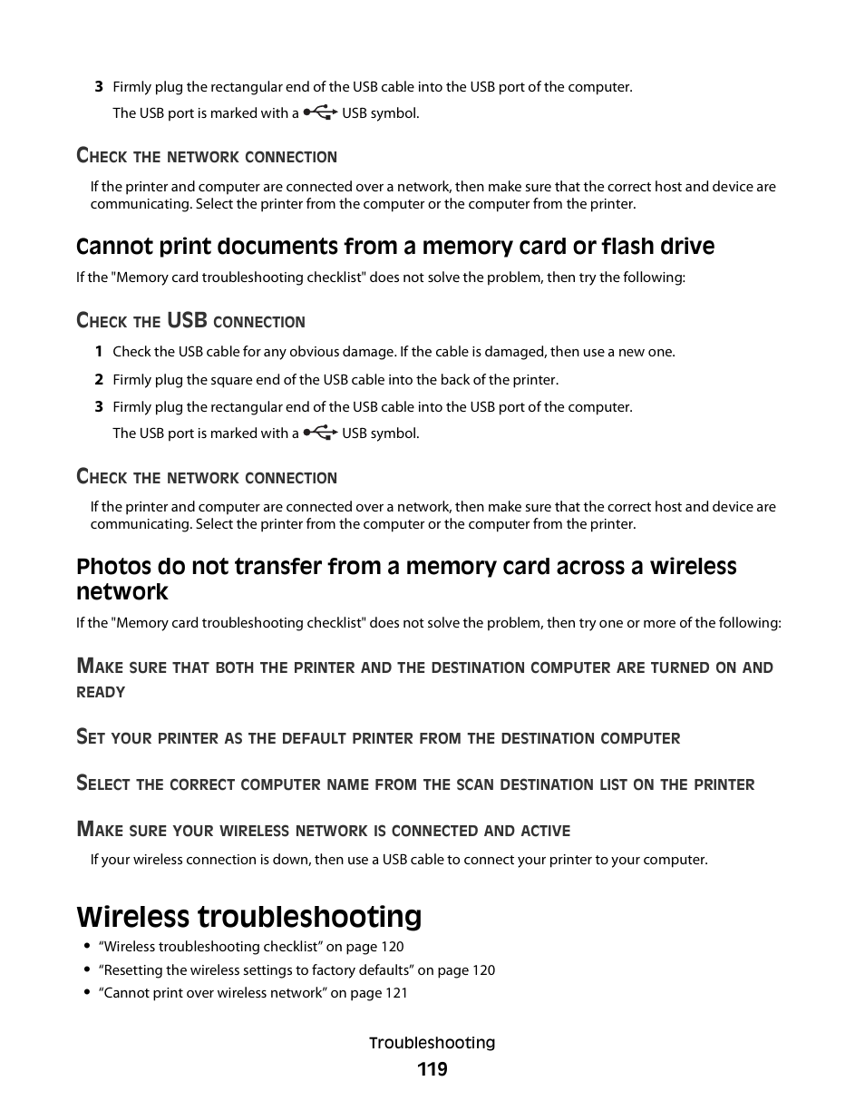 Wireless troubleshooting | Dell V515w All In One Wireless Inkjet Printer  User Manual | Page 119 / 141