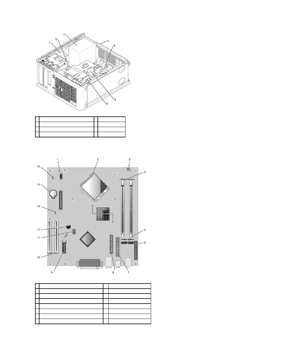 System board components | Dell OptiPlex 210L User Manual | Page 52 / 150