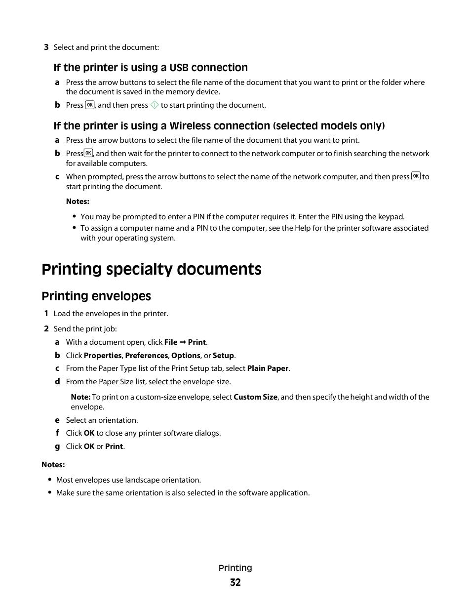 printing specialty documents printing envelopes dell v313w all in rh manualsdir com Dell V313w Wireless Setup Dell Wireless Printer Set Up