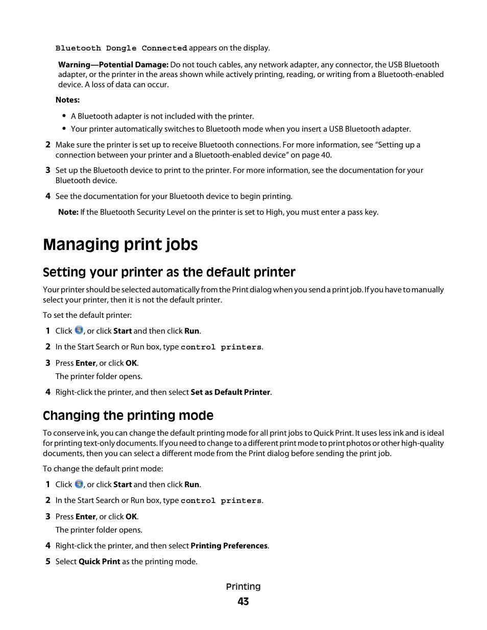 managing print jobs setting your printer as the default printer rh manualsdir com Show Parts Placing Dell V313w Printheads Dell V313 User Manual