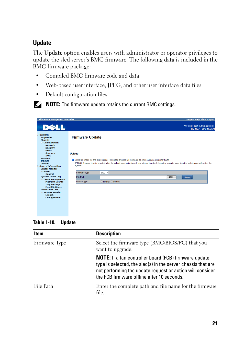 Update | Dell PowerEdge C6220 User Manual | Page 21 / 78