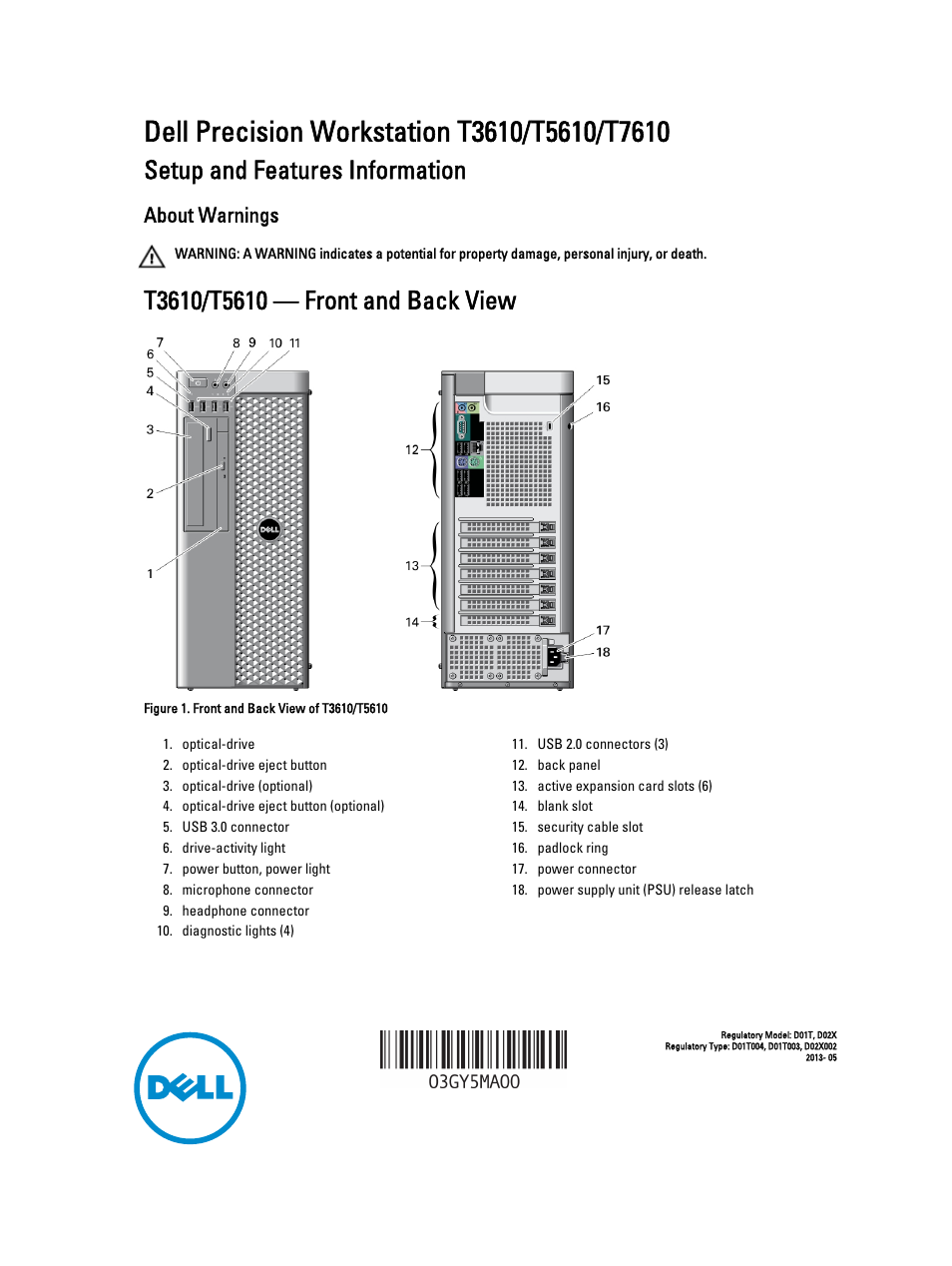 dell precision t3610 late 2013 user manual 6 pages rh manualsdir com dell precision t3610 service manual dell precision t3610 service manual