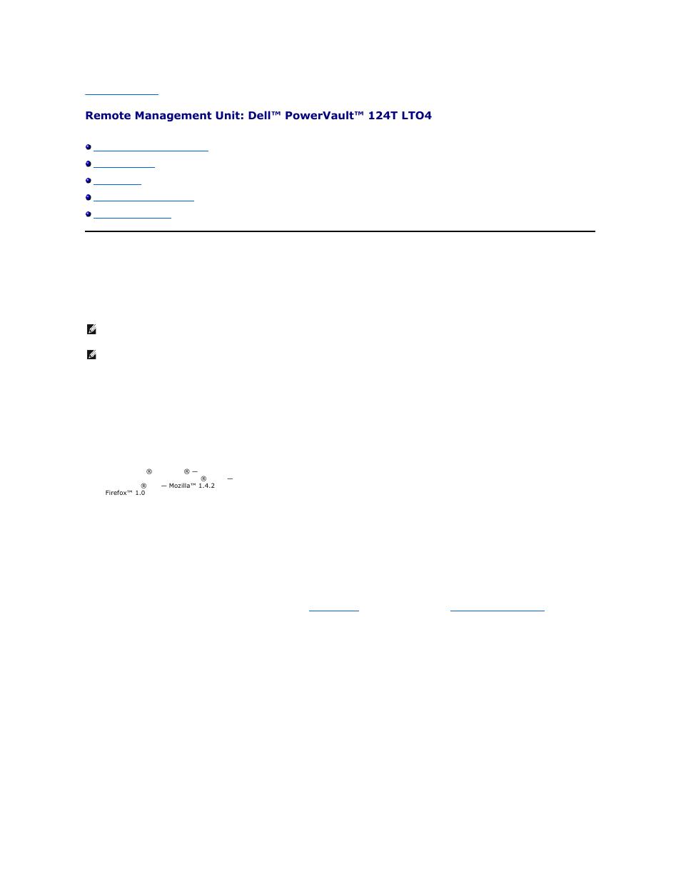 Remote management unit overview | Dell PowerVault 124T User