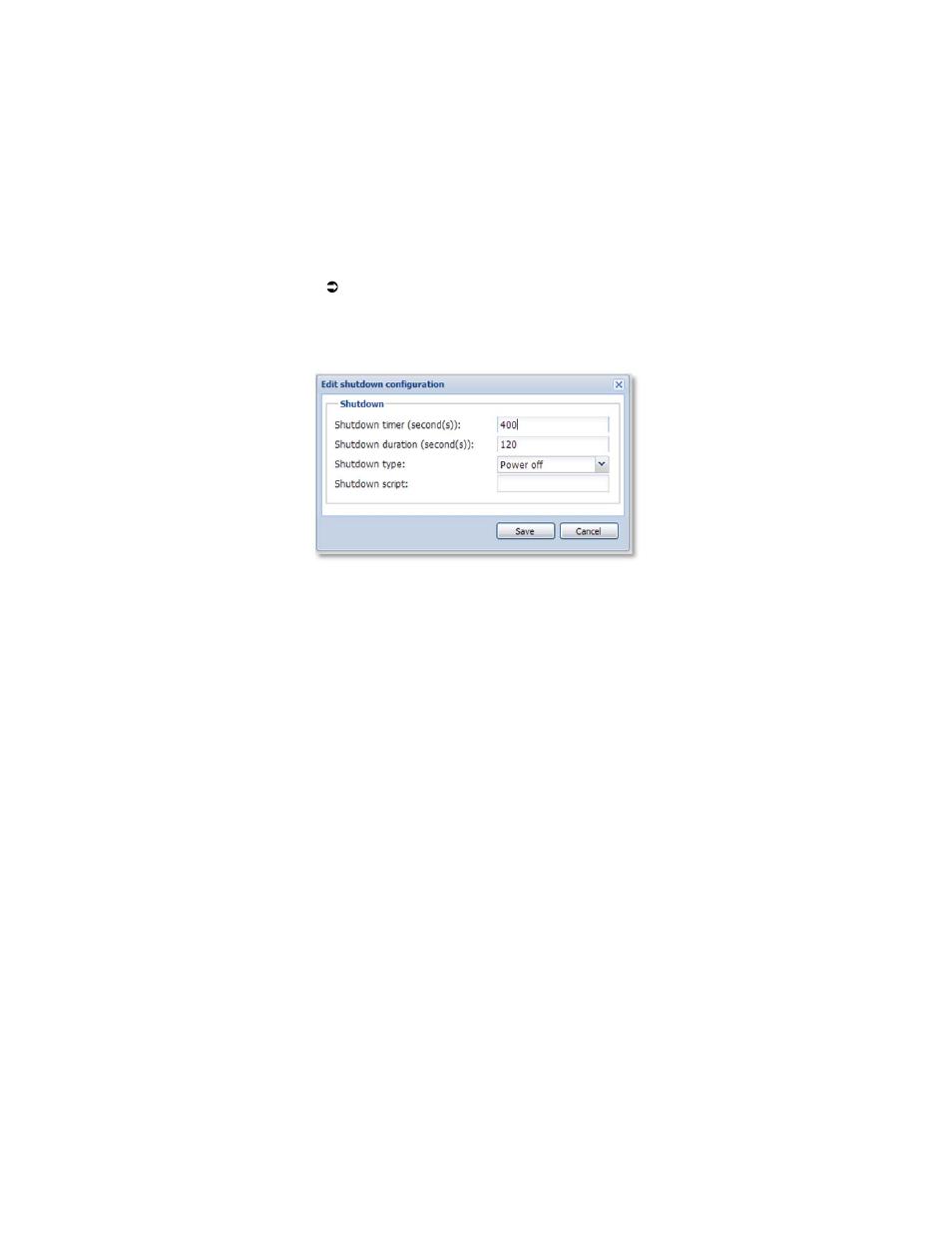 Appendix 2 shutdown settings, Shutdown setting listing and