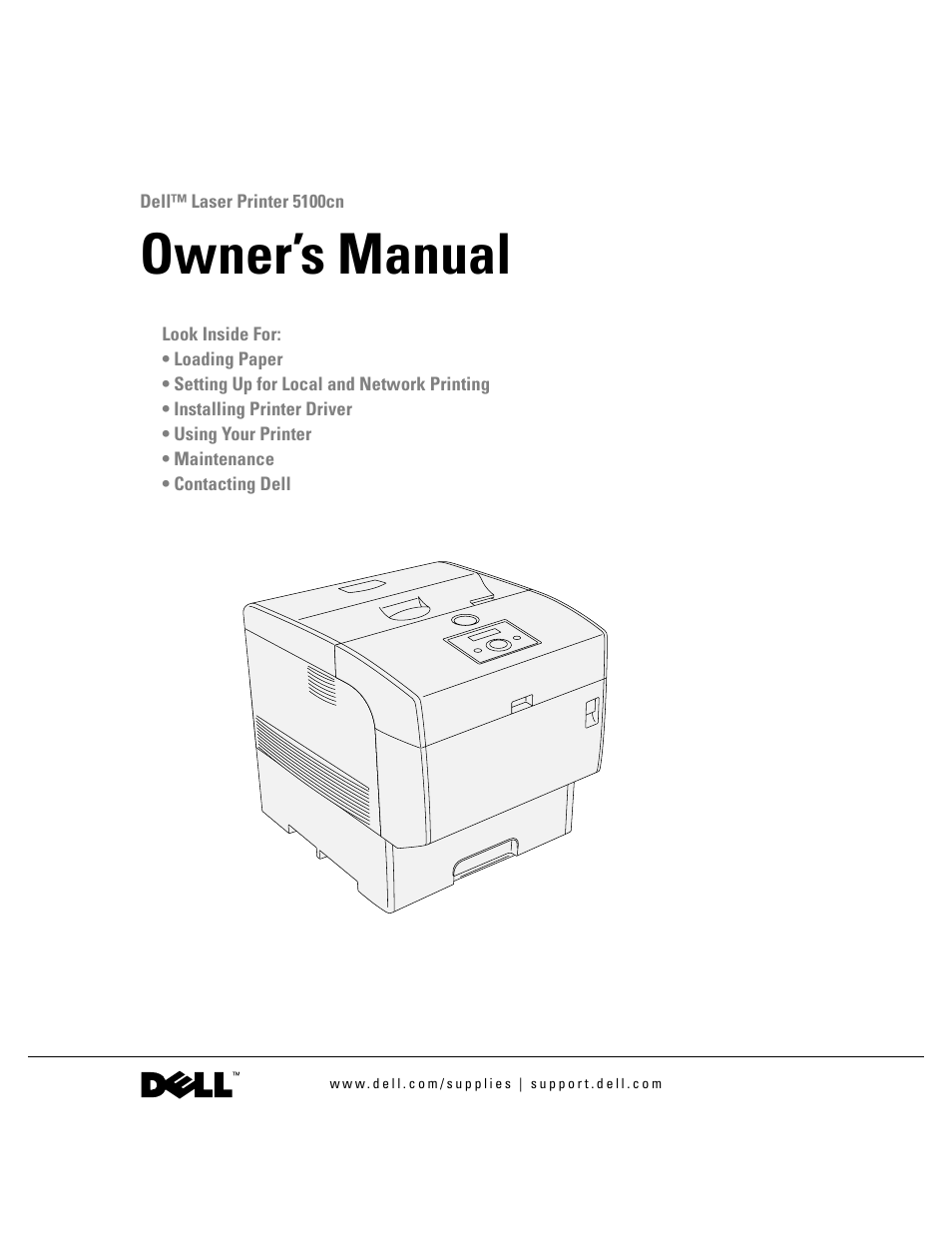 dell 5100cn color laser printer user manual 98 pages rh manualsdir com dell 5100cn printer driver for mac dell 5100cn printer driver windows 10
