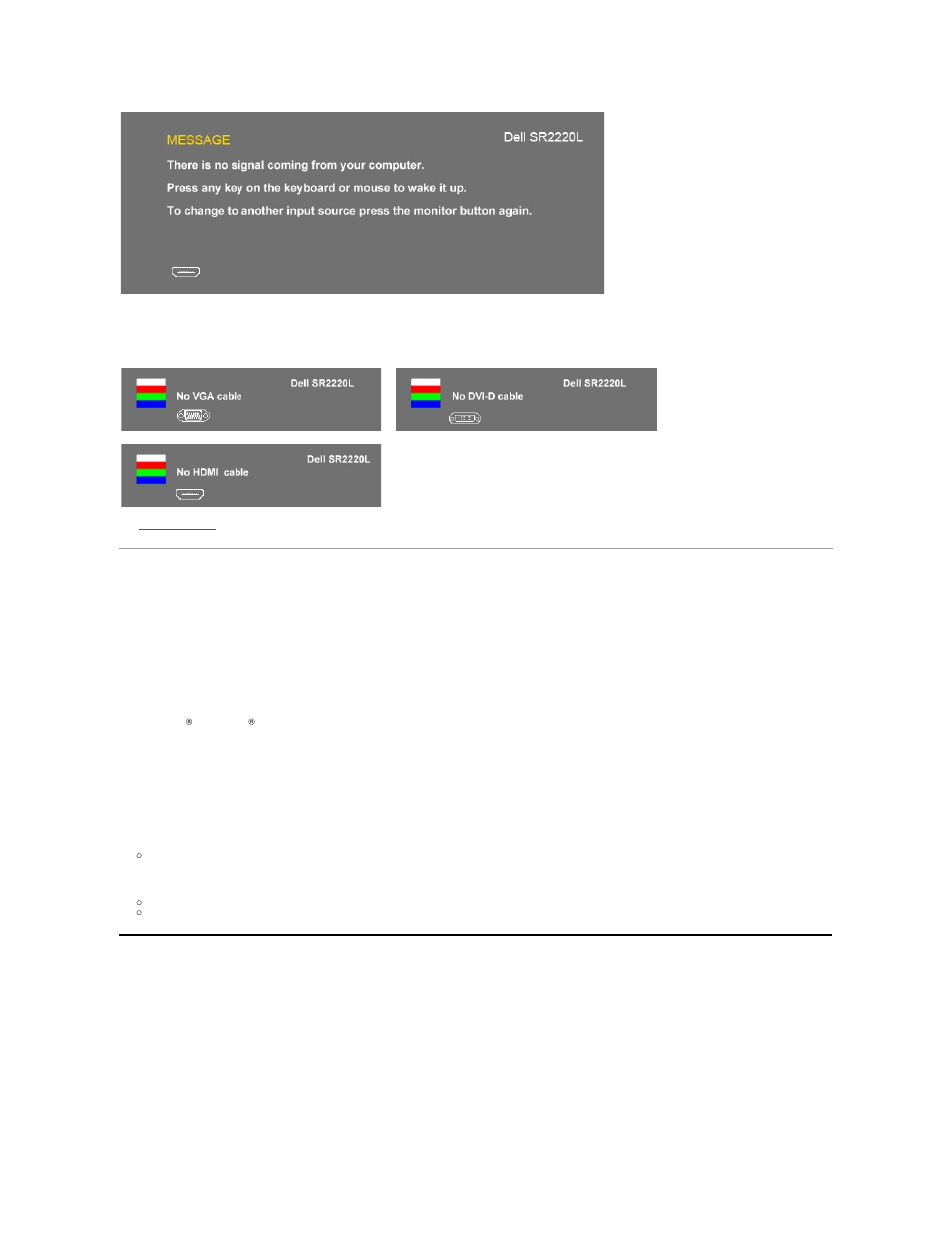 Setting the maximum resolution, Using the dell soundbar (optional) | Dell  SR2220L Monitor User Manual | Page 23 / 33