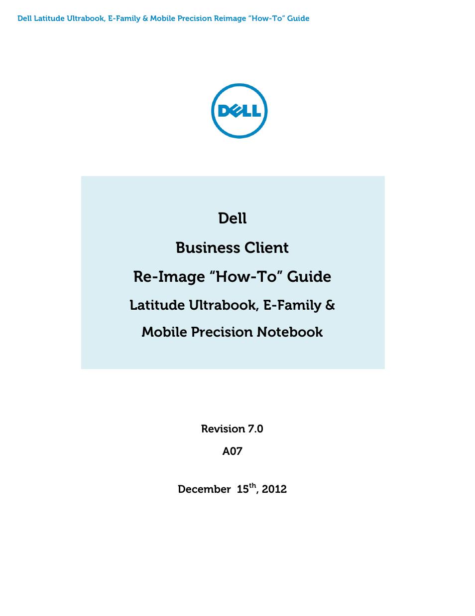 Dell Latitude E6430 (Mid 2012) User Manual   46 pages