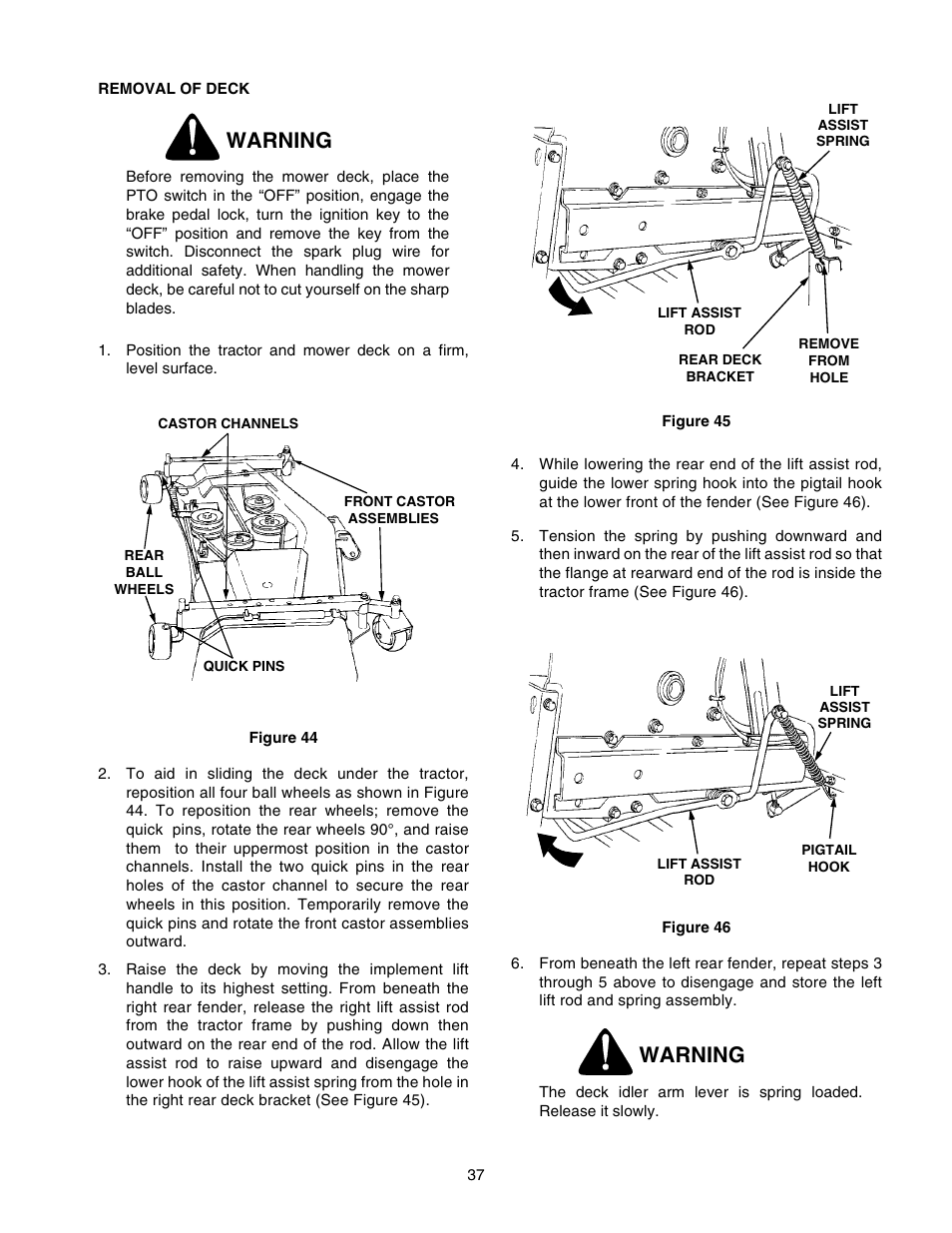 2206 Cub Cadet Wiring Diagram Another Blog About Rotary Lift Switch Warning User Manual Page 37 60 Original Mode Rh Manualsdir Com