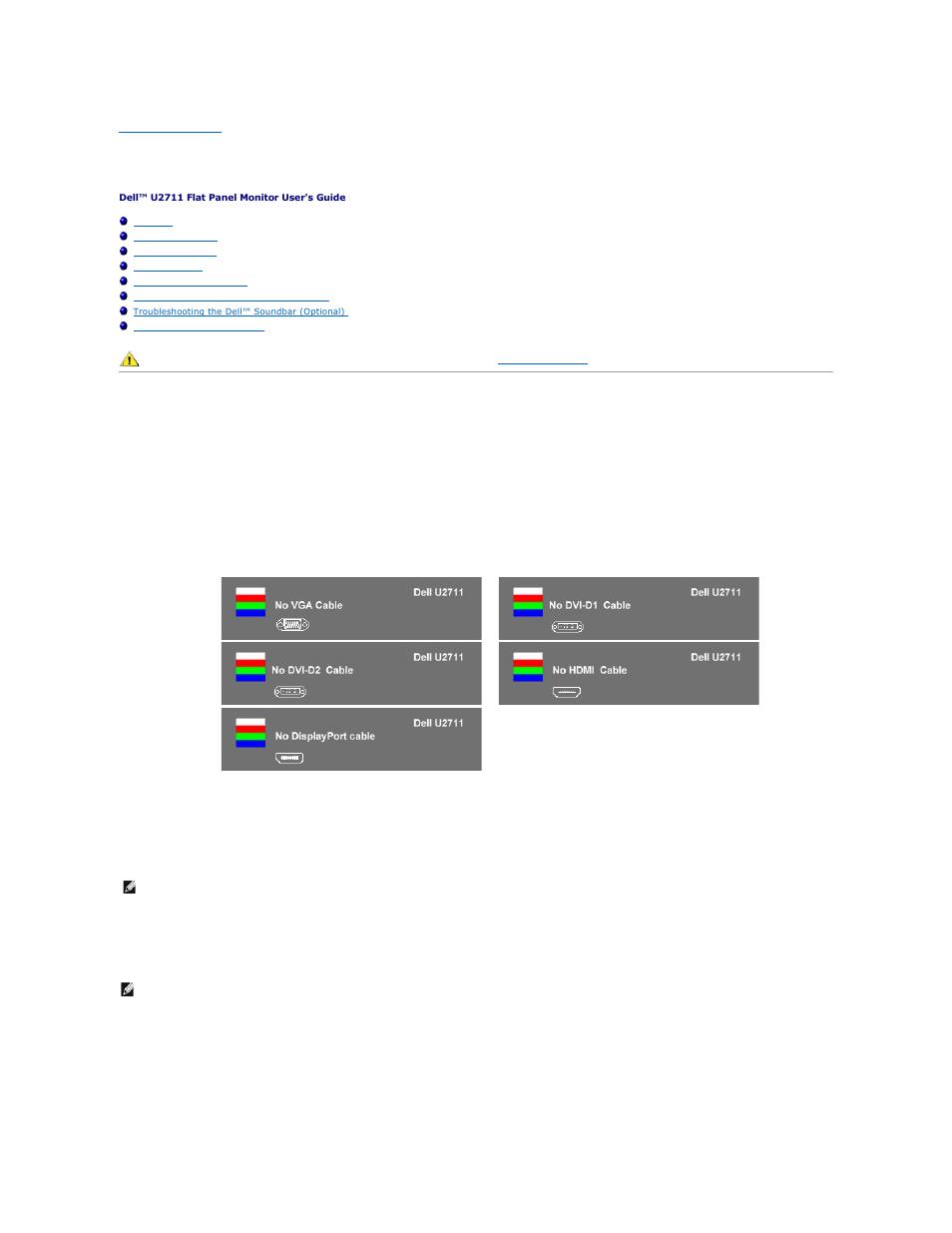 solving problems self test built in diagnostics dell u2711 rh manualsdir com Dell U2711 Firmware Dell U2711 Manual PDF
