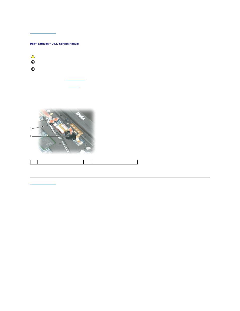 coin cell battery dell latitude d420 user manual page 8 37 rh manualsdir com dell d420 service manual pdf Latitude D420 Battery