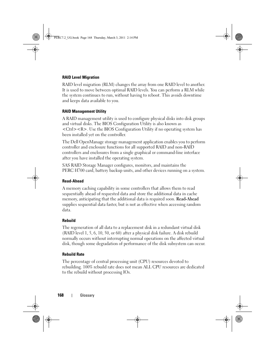 Dell PowerEdge RAID Controller H800 User Manual | Page 168 / 178